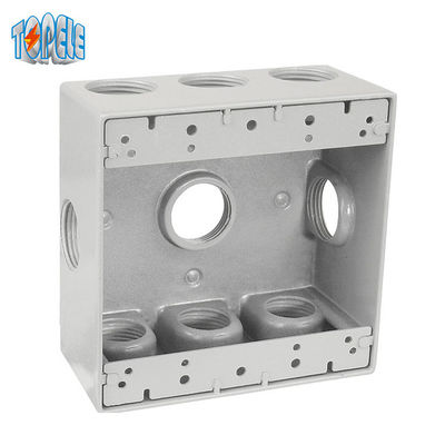 Two Gang Aluminum 4x4 Waterproof Electrical Outlet Box