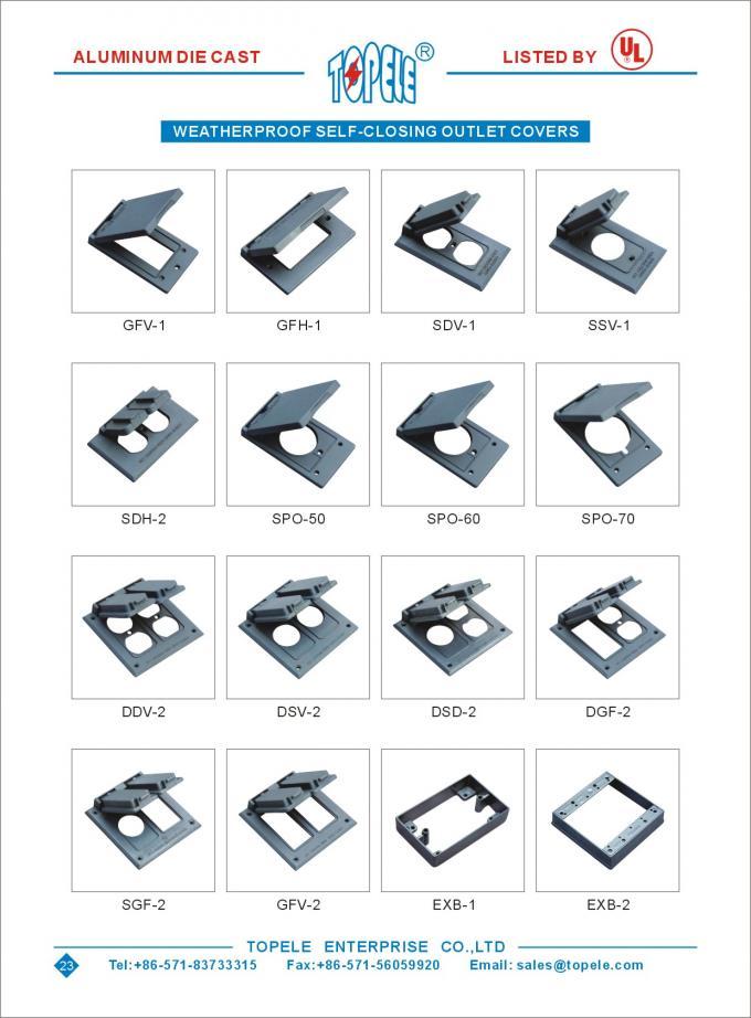 Aluminum Powder Coated Weatherproof Electrical Boxes