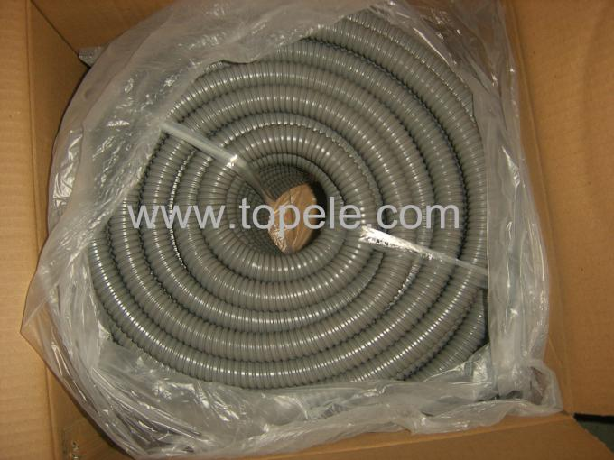 corrugated flexible conduit Grey / Black PVC Coated Electrical Galvanized Steel Flexible Pipe